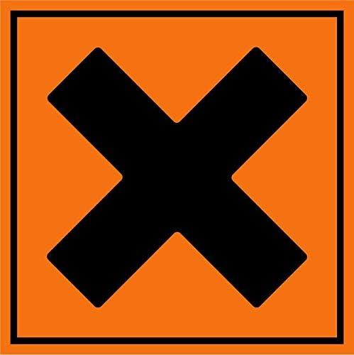 Stickers zelfklevend diameter 25 x 25 cm irritantschadelijk oranje