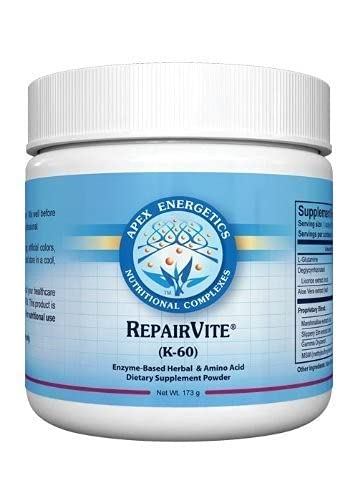 Apex Energetics K-60 REPAIRVITE (173g) Enzyme-Based Herbal & Amino...