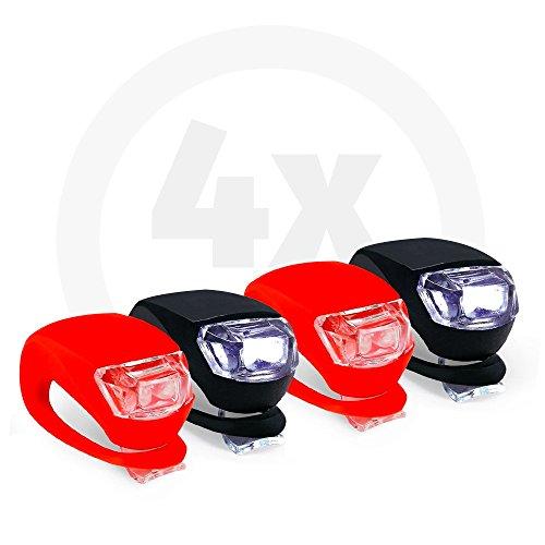 Collory Led-kinderwagenverlichting, set incl. batterijen, waterdichte lampen, verlichting voor fiets, scooter, rolstoel, eenvoudige installatie zonder gereedschap