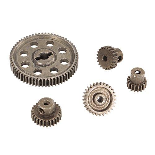 SM SunniMix Metal Spur Diff Engranaje Principal 5 Mm 64T Motor Piñones 3.175MM 17T 21T 26T 29T