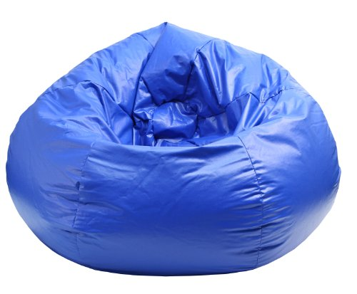 Gold Medal Bean Bags Medium Wet Look Vinyl Beanbag, Tween Size, Blue