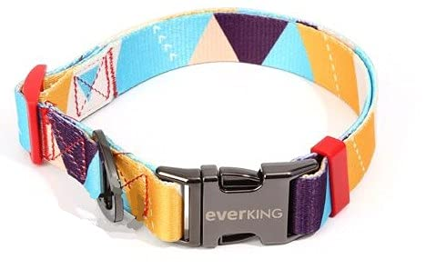Collar para perro ajustable moderno multicolor para perros grandes, medianos y pequeños, transpirable, accesorio de nailon (4001-1)