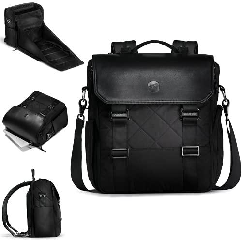PAPERCLIP Wickeltasche aus Weidenholz mit Wickelstation, Schwarz (schwarz / schwarz), Large