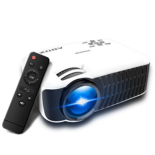 Video Projector 2400 Lumens, Globmall ABOX T22 Support 1080p HD Multimedia Portable Mini Home Theater LED Projector Support HDMI USB SD Card VGA AV Input for PC Laptop/PS4/Xbox