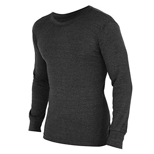 Floso - T-Shirt Thermique à Manches Longues - Homme (L) (Gris foncé)