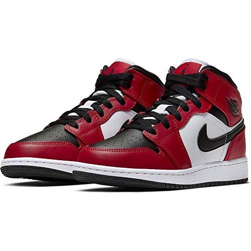 Jordan Nike Air 1 Mid GS Chicago Black Toe 554725-069 Size 4