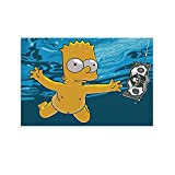 RSZHHL Cartoon Simpsons Lustiges Leinwand-Kunst-Poster und