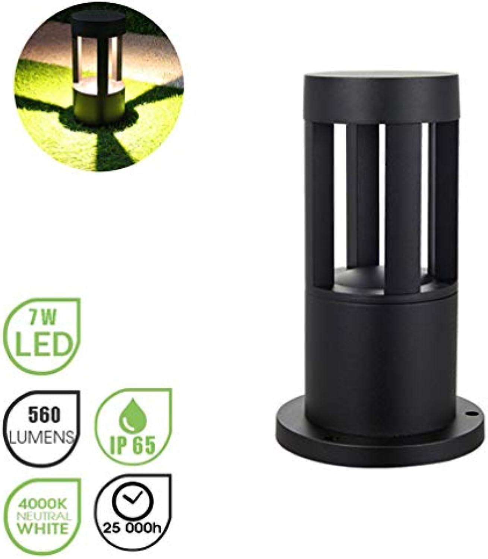 Auenlampe LED Wegeleuchte Gartenlampe Auenleuchte Wasserdichte Auen- Standleuchte IP65 Aluminium Auenbeleuchtung für Auen Terrasse Rasen Hinterhfe Wege, Natürlich- Licht 4000K, Schwarz (c)