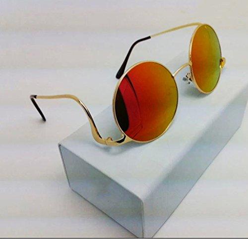 QQB Gafas Gafas de Sol de Lujo Radian Metal Gafas de Sol Fashion Urban Style-X220 (Color : #2)