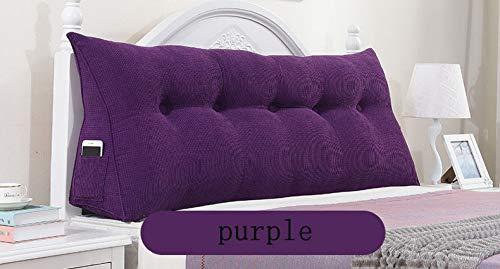 GUAIWEI Triangle Kissen, Bettkeilkissen Lange Kissen Kissen Lordosenstütze Kissen Für Das Wohnzimmer Schlafzimmer,Purple-150cm*50cm*22cm