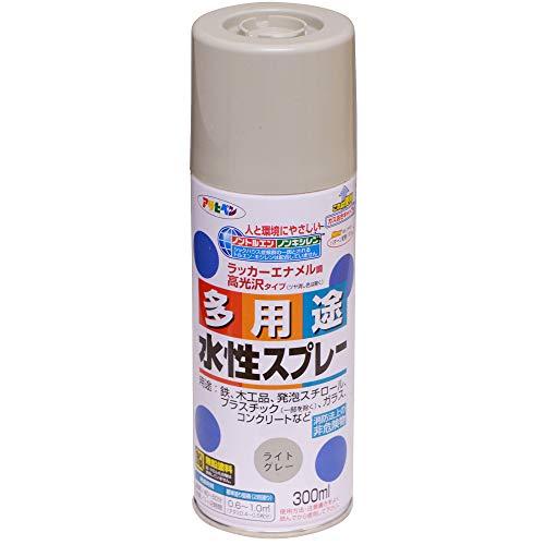 アサヒペン 水性多用途スプレー 300ML ライトグレー