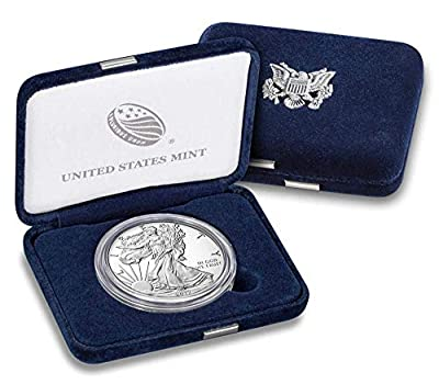 2017 W Proof American Eagle Silver Dollar with Original Packaging and COA $1 PR DCAM US Mint