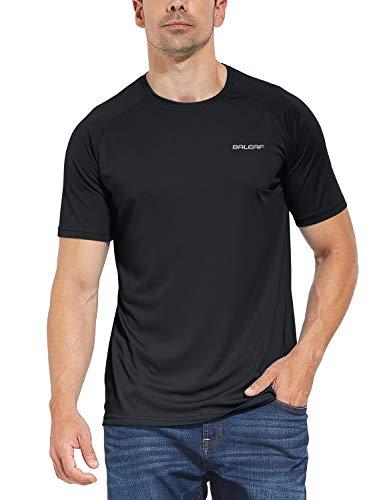 BALEAF Camisas de manga larga para hombre, livianas UPF 50+ protección solar SPF Camisetas Pesca Senderismo Correr - negro - Medium