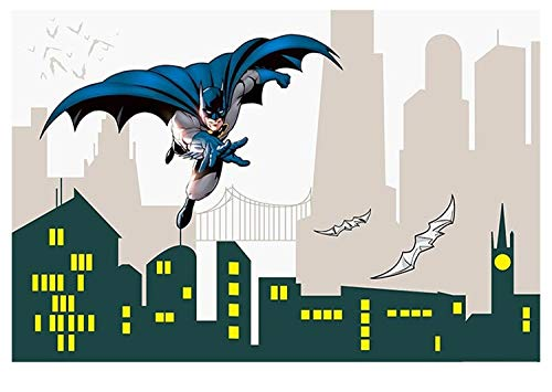 Batman cartoon behang kinderkamer-woonkamer woonkamer tv-achtergrond schilderij naadloze vliesstoffen wanddoek (H) 400 * (W) 280cm Pro
