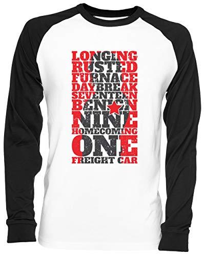 Soldat WECKEN Weißes Baseball T-Shirt Unisex Größe L White Baseball Tee Unisex Size L