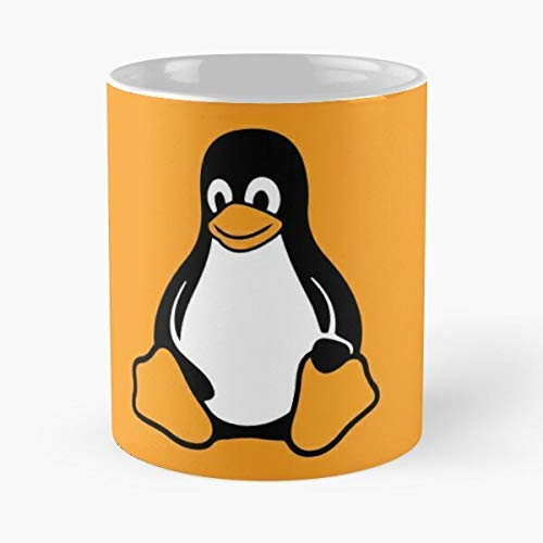 N\A Taza clásica Linux Tux Pingouin, 11 oz.
