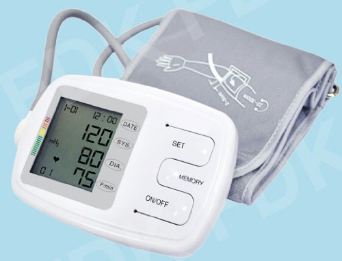 EastShore C12BVL Talking Upper Arm Blood Pressure Monitor With Large Adult Cuff 22-48 Cetermeter (8.7-19 Inch) , Best Fit Arm Upto 18.5 Inch Circumference