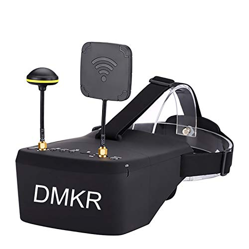 DMKR DR800D FPV Goggles with DVR 5.8G 40CH 5 Inch 800x480 HD Video Headset Build in 2000mAh Battery for FPV Racing Drone Quadcopters with Three Antennas