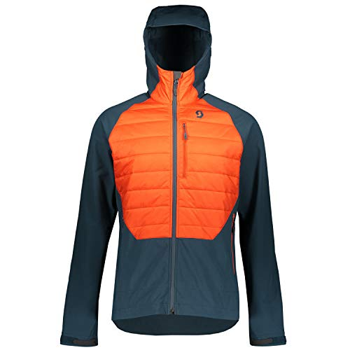 Scott Herren Skijacke Explorair Ascent Nightfall Blue/Tangerine orange XL