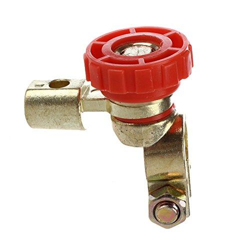 Interruptor de la bateria - TOOGOO(R) Interruptor de la bateria enlace conmutador Desconectar de corte rapidamente Coche Camion Piezas de vehiculos Rojo (interruptor de la bateria 3)