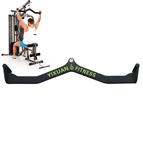 TSTS Gummigriff LAT Pull-Down-Gym Kabelbefestigung, Pro-Grip Revolving Curlstange, Trizeps Runter Bar LAT Pull-Down-Bar Griff Befestigung for Kabel-Maschine, Leicht Bauen Rückenmuskeln
