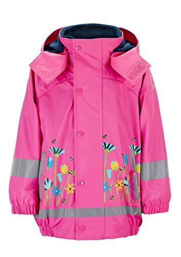 Sterntaler Mädchen Regenjacke mit Innenjacke, 3-in-1-Multifunktionsjacke, Mit Blumen- und Bienen-Motiven, Alter: 3-4 Jahre, Größe: 104, Pink