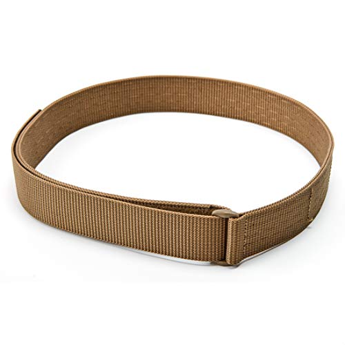 """WOLF TACTICAL Heavy Duty Simple EDC Belt - Stiffened 2-Ply 1.5"""" Nylon Gun Belt for Concealed Carry, Holsters, Pouches, Military Training"""