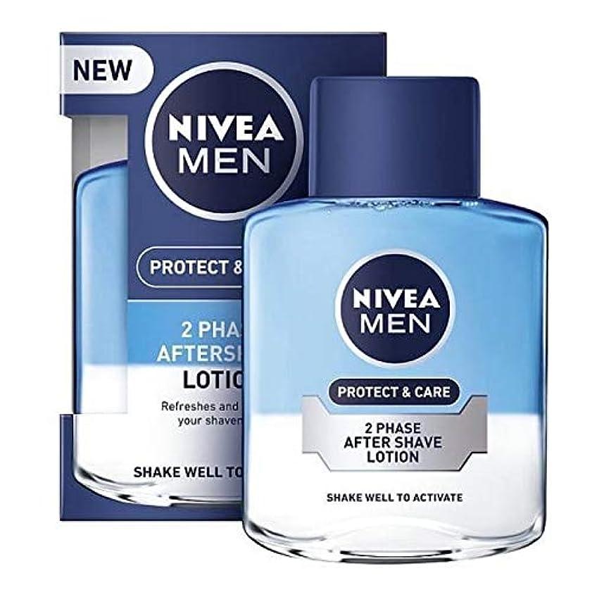支援する不確実能力[Nivea ] ニベアの男性2相アフターシェーブローション保護&ケア、100ミリリットル - NIVEA MEN 2 Phase Aftershave Lotion Protect & Care, 100ml [並行輸入品]