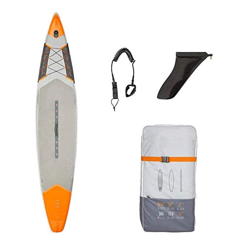 JNWEIYU Stand-Up Paddle Inflable Tabla de Surf, Sup Inflable del esquí acuático, Paddle Board Paddle Board, Seguro y Duradero (Color : Orange)