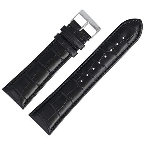 Hugo Boss Uhrenarmband 24mm Leder Schwarz - 659302153