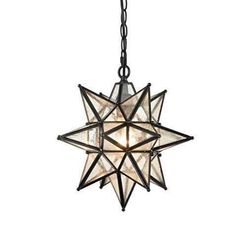 EUL 13 Inch Industrial Moravian Star Pendant Light with...