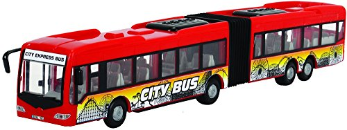 Dickie Toys 203748001312 - City Express Bus, Gelenkbus, Fahrzeug, 46 cm, zufällige Farbauswahl