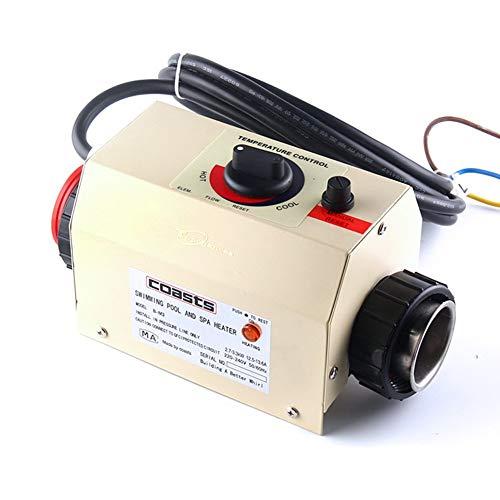 JIAN YA NA 2KW 50~60Hz Riscaldatore Elettrico per Piscina Spa Bagno Bagno Vasca idromassaggio Termostato Scaldabagno Elettrico con CE Accessori Piscina 220 V
