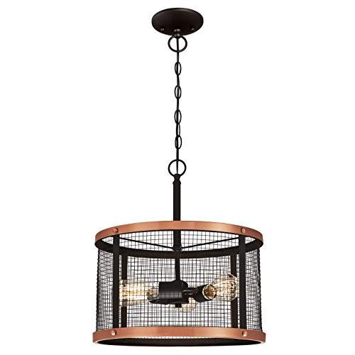 Westinghouse Lighting Three-Light Indoor Pendant Lámpara de Techo, Bronce Aceitado