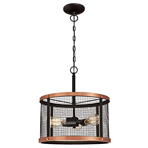 Westinghouse Lighting Three-Light Indoor Pendant Lámpara de Techo, Bronce Aceitado
