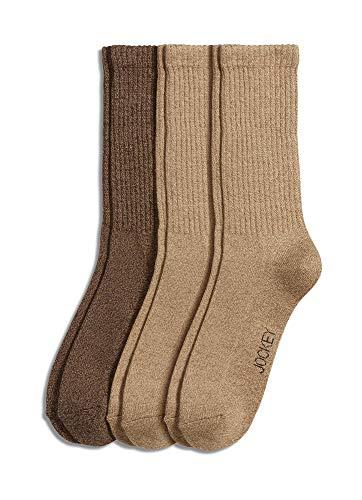 Jockey Men's Socks Men's Marl Crew Socks - 3 Pack, khaki/brown, 7-12