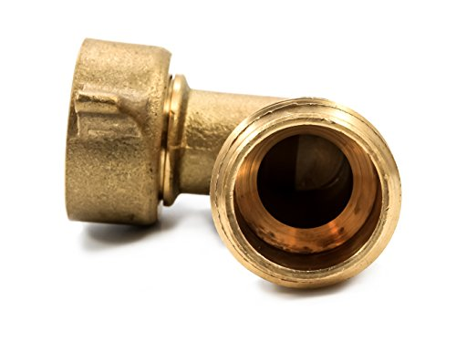 Camco (22505) 90 Degree Hose Elbow- Eliminates Stress and Strain On RV Water Intake Hose Fittings, Solid Brass