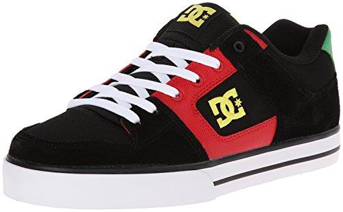 DC Shoes Pure Shoe - Zapatillas de monopatín para Hombre, (Black Red Green), 37.5 EU