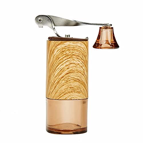 HYSK Manuelle Kaffeebohnenschleifer Holzschleifer, große Kapazität Handkurbel, mit Verstellbarer digitaler Ausrüstung, persönliche Kaffeemühle für tragbare Reise Camping...