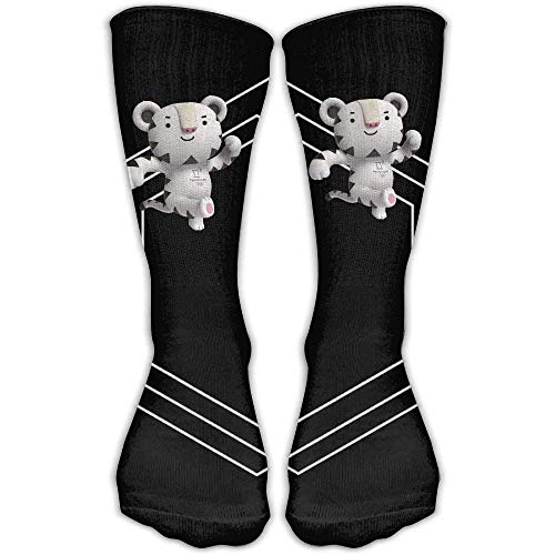 SDFGSE Design Winter Paralympics Mascot Novelty Art Knee High Socks for Women undGirl