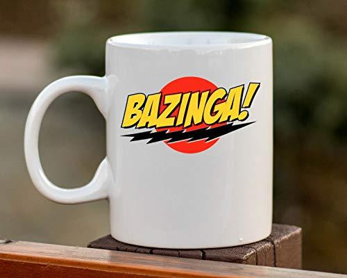 DKISEE Bazinga-Tasse, Big Bang Theory, Bazinga-Kaffeetasse, TV-Tasse, Film-Kaffeetasse, Big Bang Geschenk, Kaffeetasse, tolles Fan-Geschenk, 325 ml