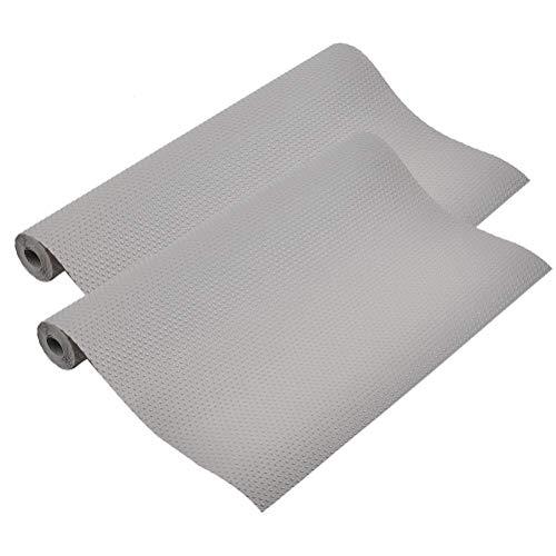 OFNMY basi antiscivolo in EVA trasparente multifunzionale - Tappetini per frigorifero in silicone ideali per frigorifero, bancone della cucina, cassetto, ecc. (Grigio)