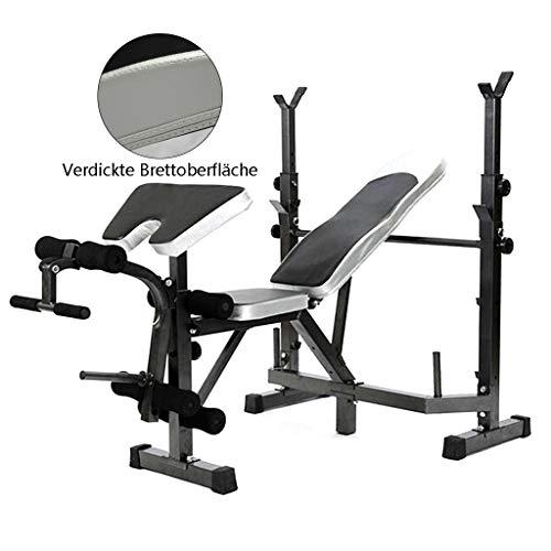 Fitness et Musculation Rack à squat Rack de développé couché pliable Lit d'haltérophilie à domicile Réglable Lit à haltères Portant 400kg Bancs de musculation ( Color : Black , Size : 175*105*120cm )