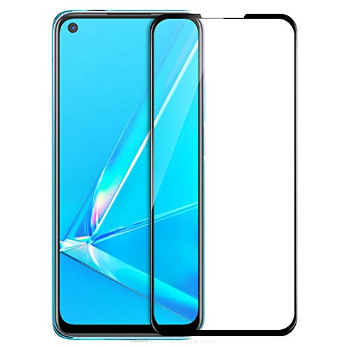 Knotyy Edge to Edge Curved Full Tempered Glass Screen Guard for Oppo A92 (Black, Pack of 1)
