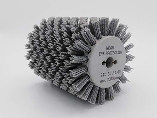 Nylonbürste kompatibel mit Bürstenschleifer Makita 9741 K80-120mm/1,4mm Korn 80
