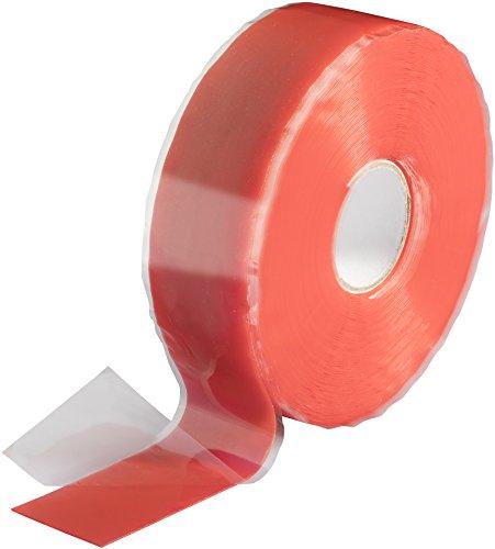 Poppstar 1x 11m selbstverschweißendes Silikonband, Silikon Tape Reparaturband, Isolierband und Dichtungsband (Wasser, Luft), 25mm breit, rot