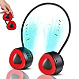 Handsfree Personal Neck Fan, Portable Rechargeable USB Bladeless Cooling Fan with 360°Free Rotation, Mini Lightweight Wearable Neckband Fan 3 Speeds Control for Office Travel Indoor Outdoor Sports