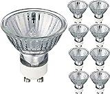 Lampadine Alogene GU10 a Faretto 50W 230V, Luce Calda 2700K, Dimmerabile, 8 Pezzi