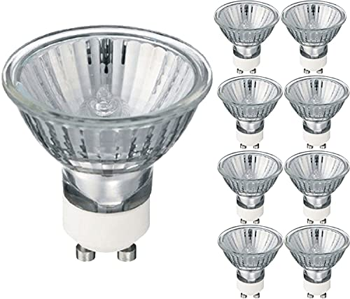 GU10 35 Watt Halogen Reflektor Halogenlampe Warmweiß Dimmbar, 8 Stück