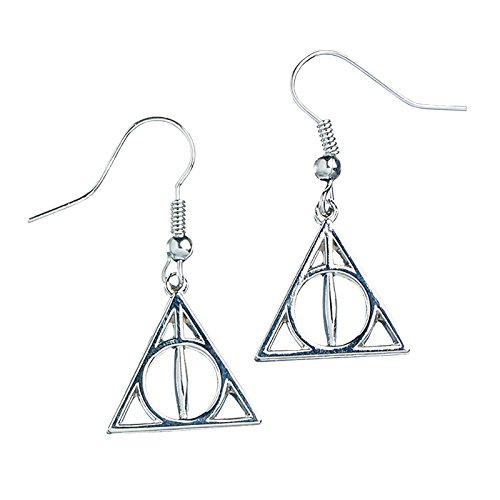 Harry Potter Offizielle Deathly Hallows Symbol Tropfen Silber-Ohrringe